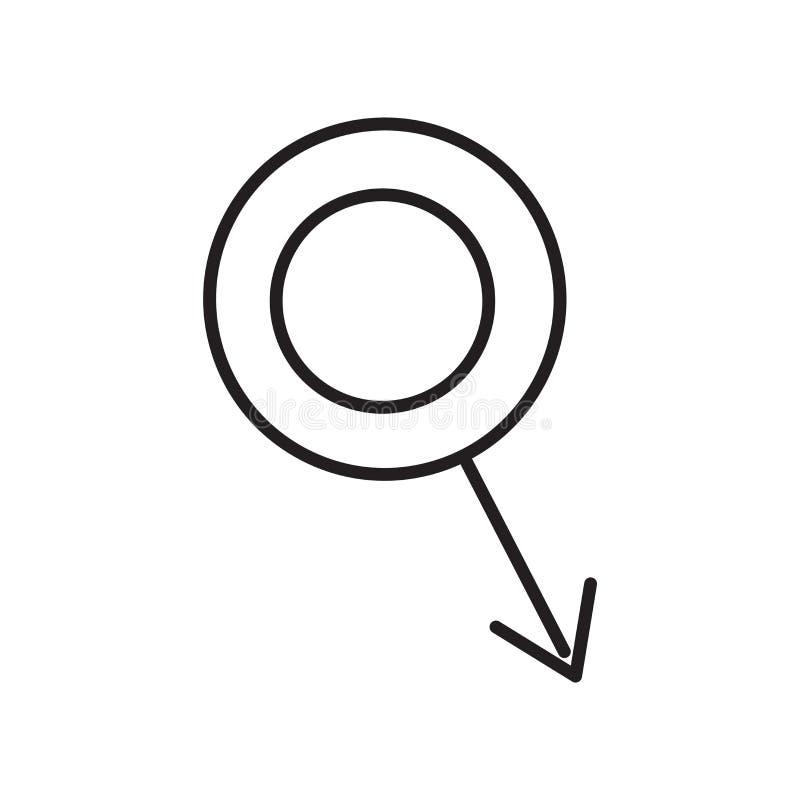 Vector masculino del icono aislado en el fondo blanco, muestra masculina, símbolos médicos de la salud libre illustration