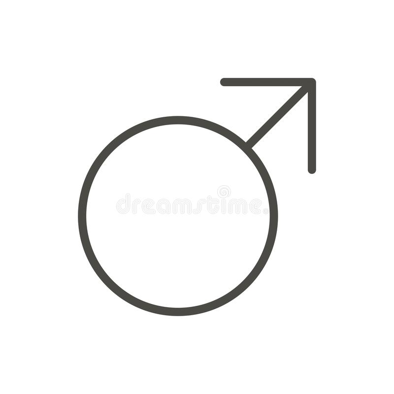 Vector masculino del icono del género Sex symbol del juez de línea aislado La Florida de moda ilustración del vector