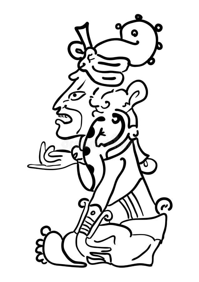 Vector Maya Image of the Deity. Vector Maya Image of the ancient Deity royalty free illustration