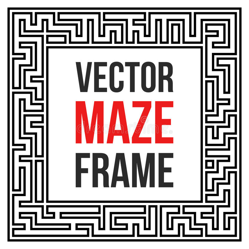 Vector Maze Frame Vintage Maze Border libre illustration