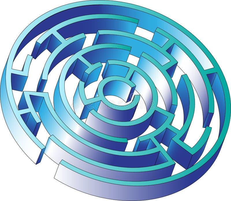 Vector maze game royalty free stock photos