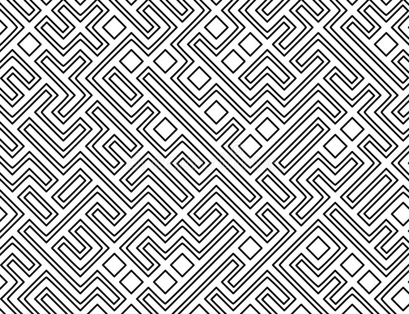 Download Vector Maze Pattern Background Stock Vector - Image: 3943020