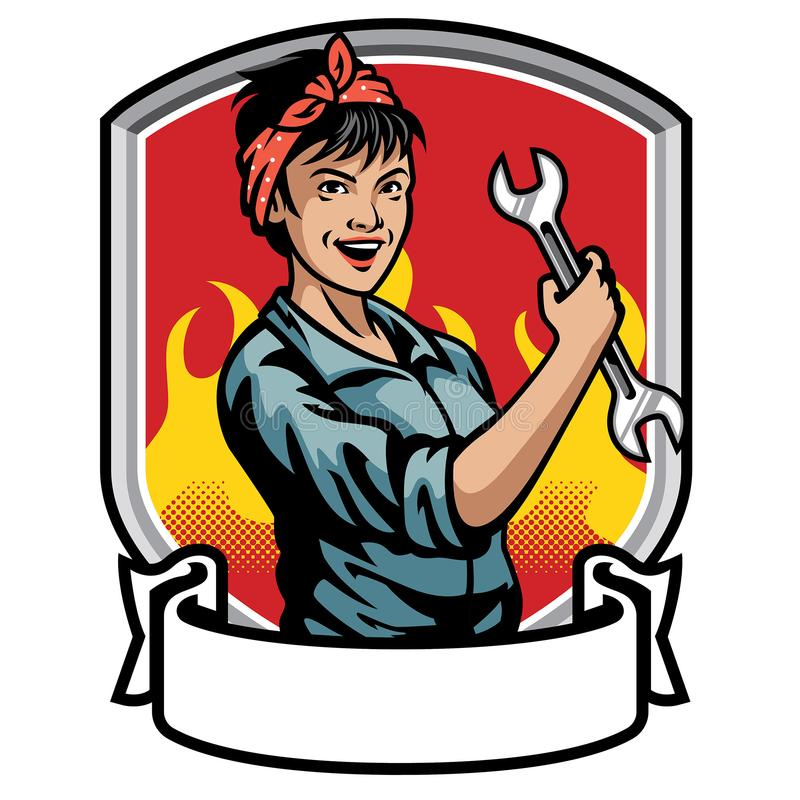 Mechanic women design royalty free illustration