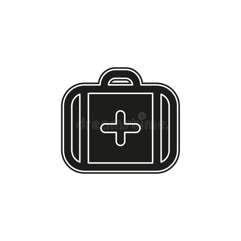 vector medical case sign - insurance symbol - first aid kit, emergency box royalty free illustration