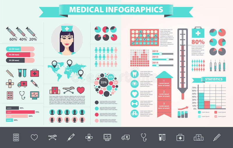 Vector medical, health care, hospital, doctor royalty free illustration