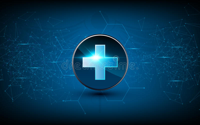 Vector medical health care sci fi design background technology innovation concept royalty free illustration