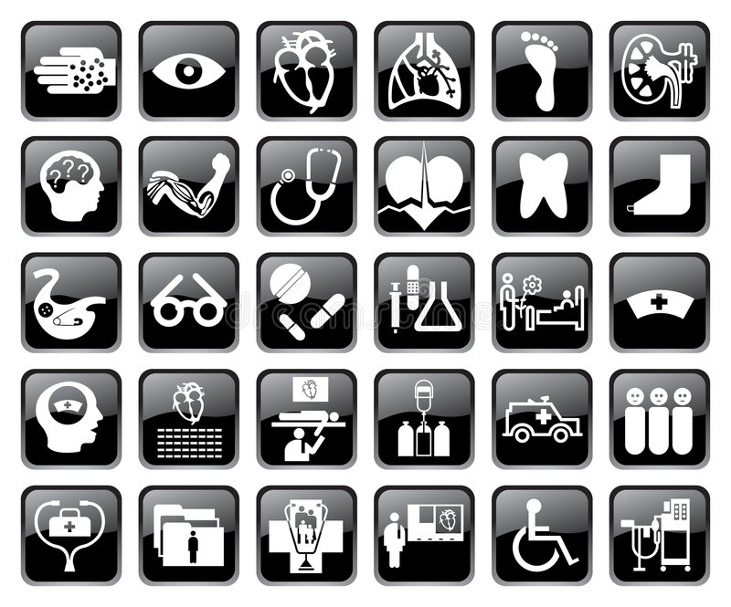 Vector medical icons royalty free illustration