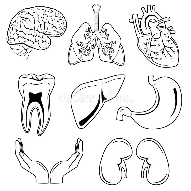 Vector medical icons royalty free stock photos