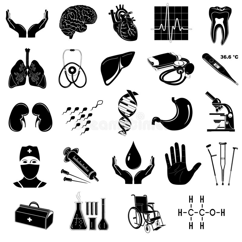 Vector medical icons vector illustration