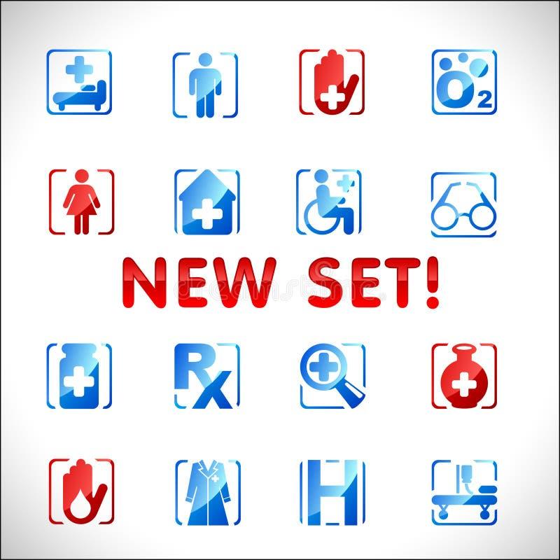Vector medical icons. Set 3 stock photos