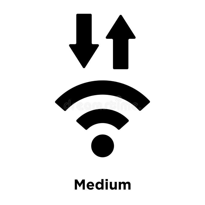 Vector medio del icono de la señal aislado en el fondo blanco, estafa del logotipo libre illustration