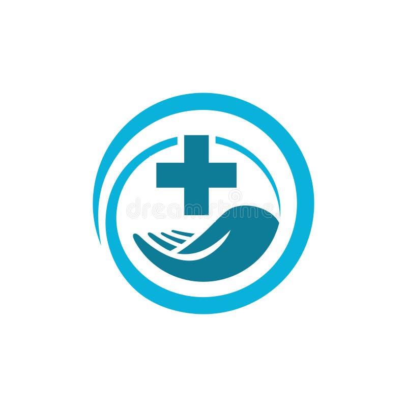 Vector medisch gezondheidssymbool royalty-vrije illustratie
