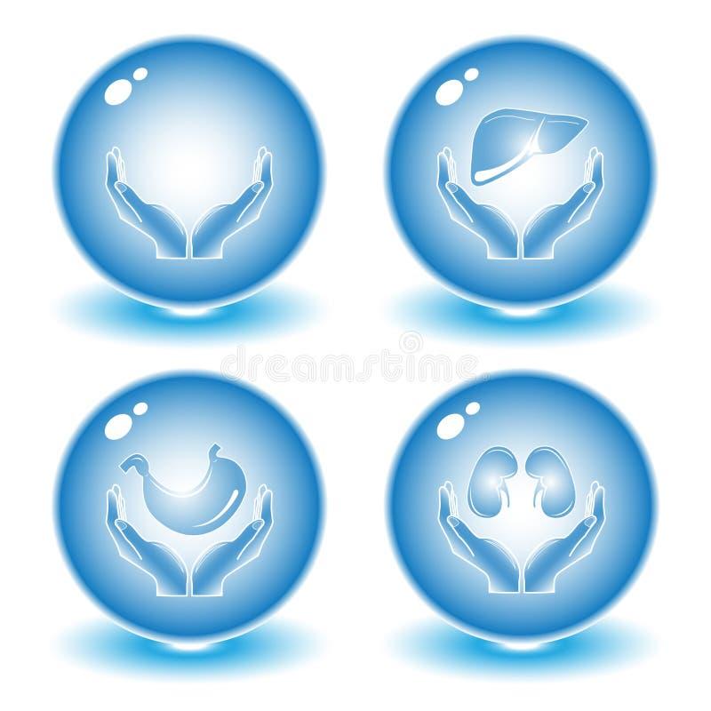 Vector medische pictogrammen royalty-vrije illustratie