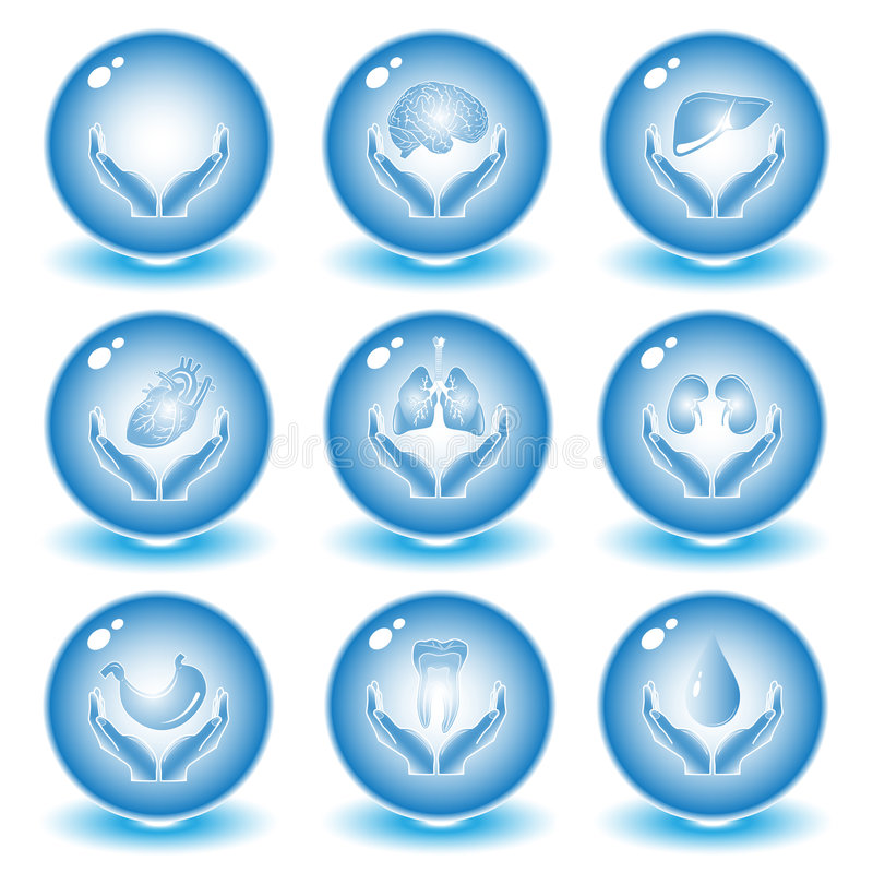 Vector medische pictogrammen stock fotografie