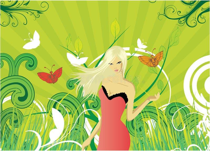 Vector meisje royalty-vrije illustratie