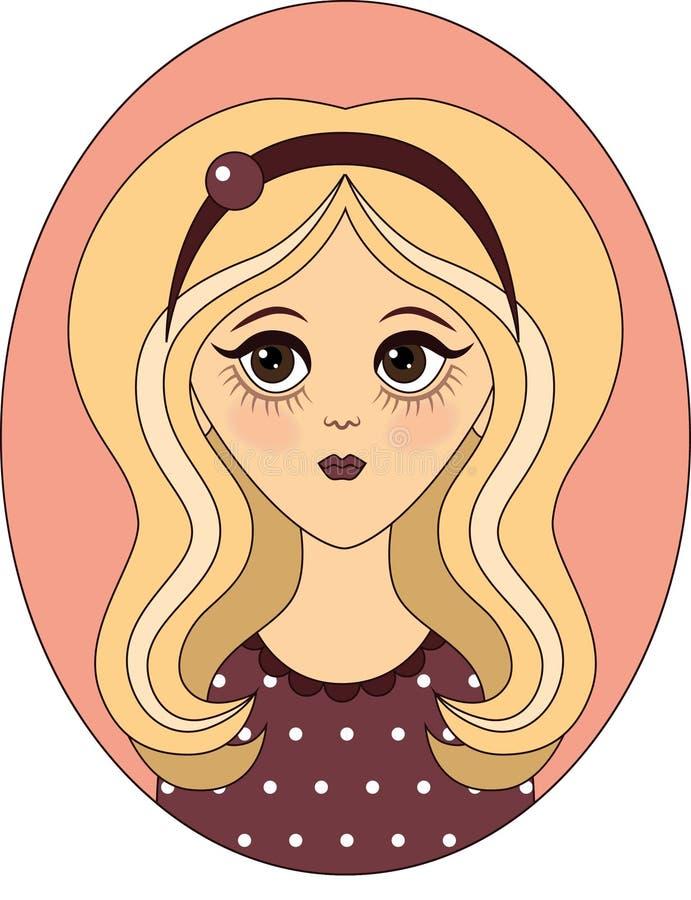 Vector meisje royalty-vrije stock fotografie