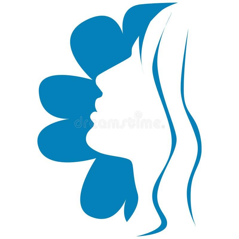 Vector meisje met bloem stock illustratie