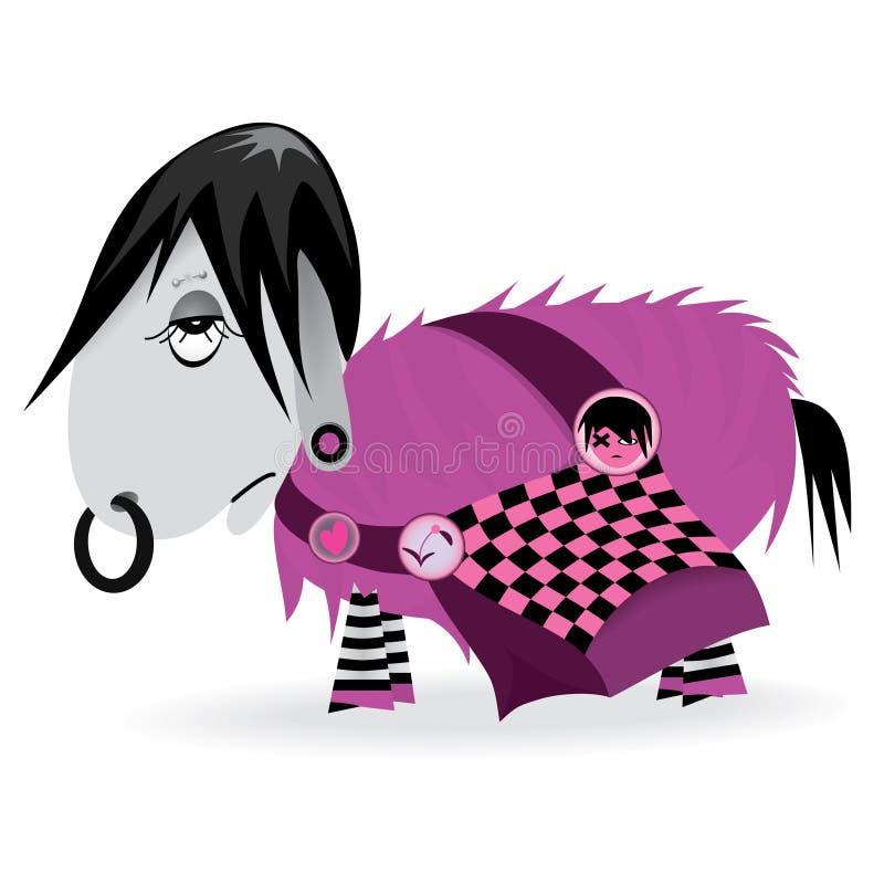 Vector Melancholy Emo Donkey Stock Photo