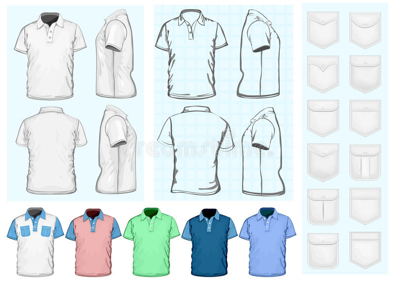 Men's polo-shirt design template royalty free illustration