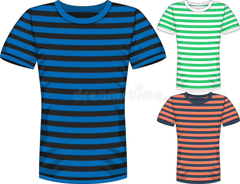 Vector Mens short sleeve t-shirt design templates royalty free stock photography
