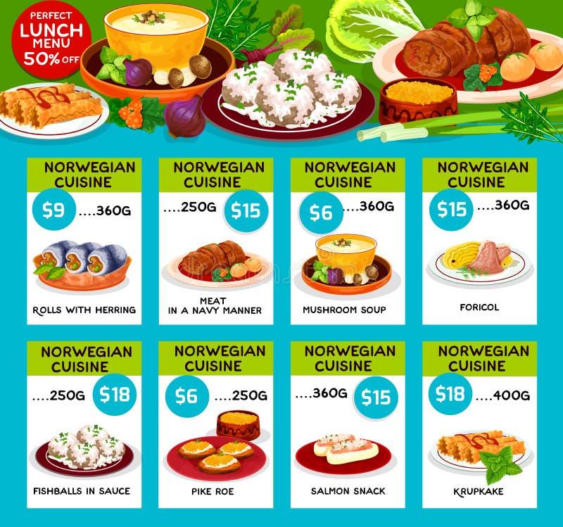 Vector menu price cards of norwegian cuisine stock vector download vector menu price cards of norwegian cuisine stock vector illustration of gourmet dish forumfinder Choice Image