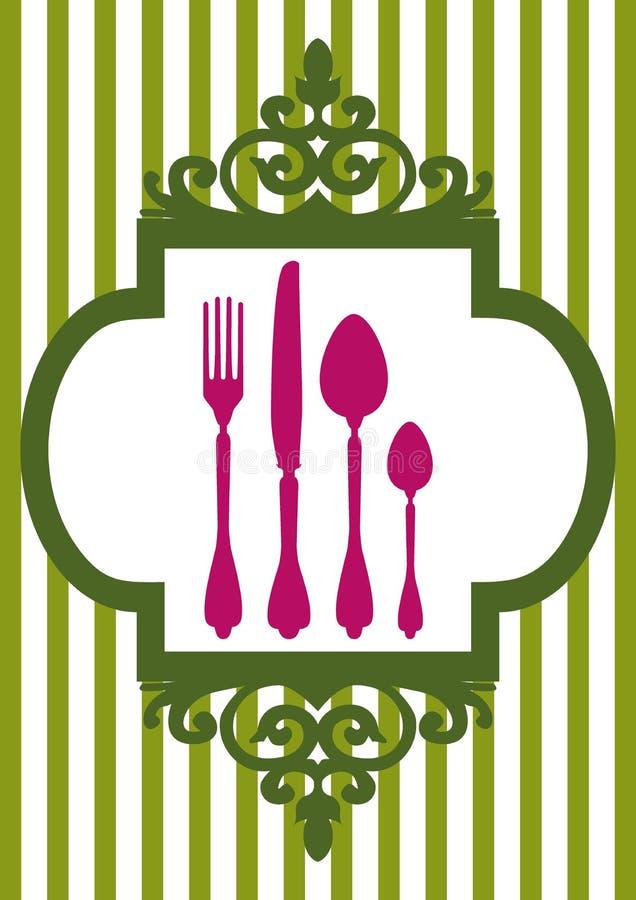 Vector menu of restaurant card royalty free illustration