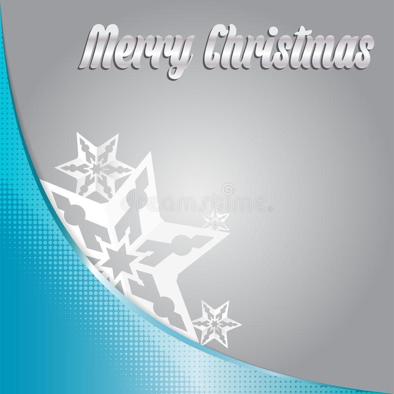 Vector Merry christmas background with stars stock illustration