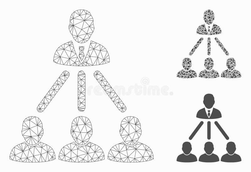 Vector Mesh Carcass Model de la estructura de organización de gente e icono del mosaico del triángulo libre illustration