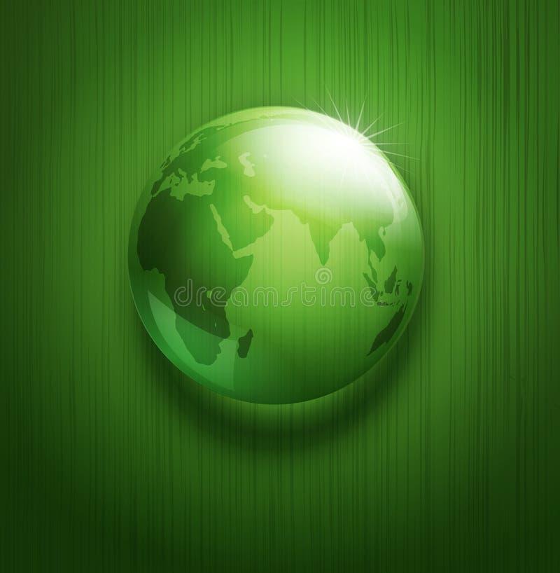 Vector met transparante groene bal -bal-glob royalty-vrije illustratie