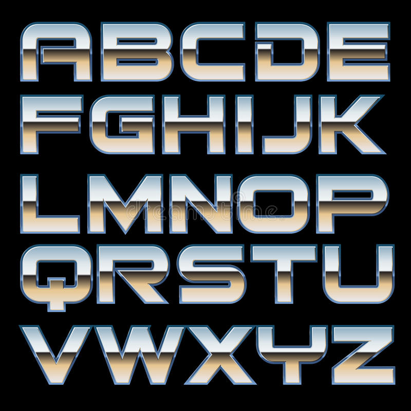 Free Vector Metal Font Royalty Free Stock Photography - 34884767