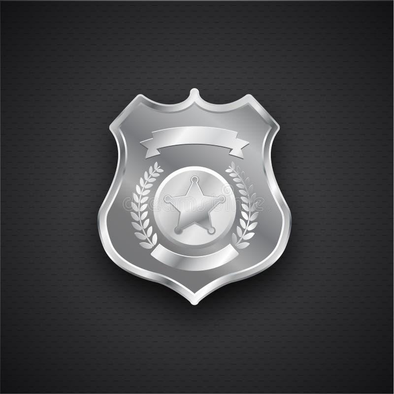 Vector metal Police Badge eps 10 stock illustration
