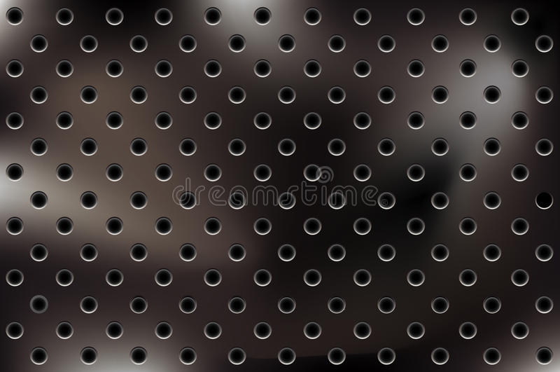 Download Vector Metallic Background With Holes Stock Vector - Illustration: 11997537