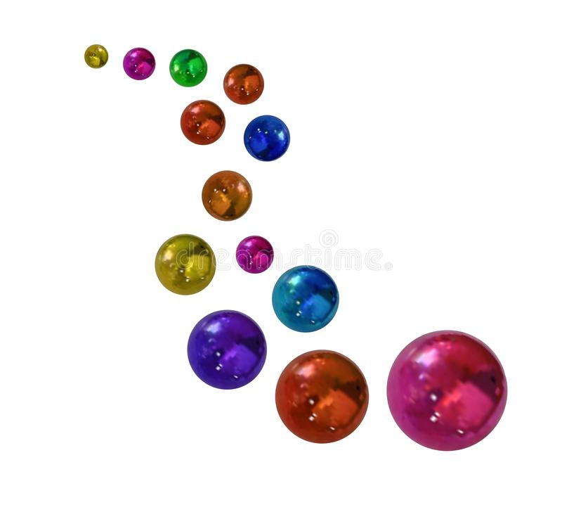 Vector Metallic Colorful Balls, Festive Illustration Isolated. vector illustration