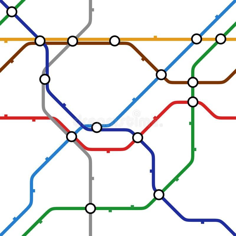 Vector metro scheme royalty free illustration