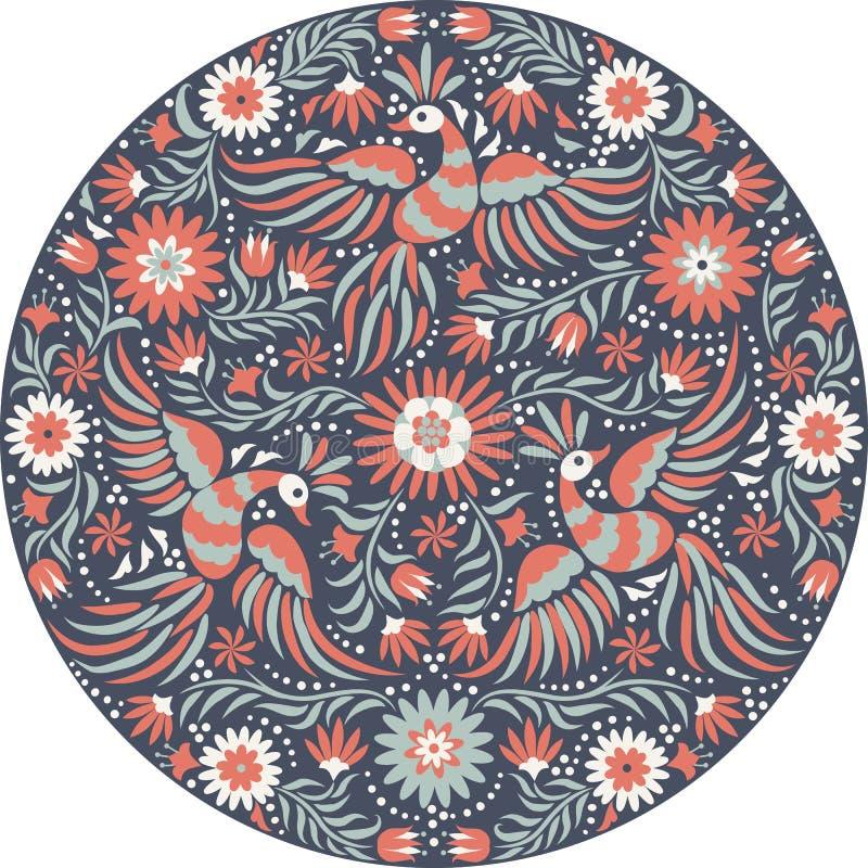 Vector Mexicaans borduurwerk om patroon stock illustratie