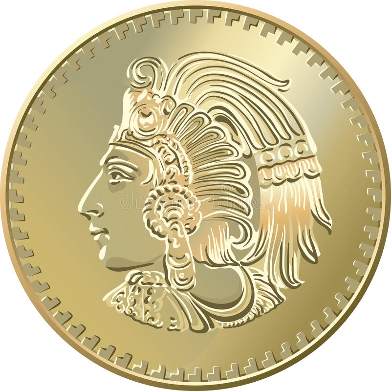 Free Vector Mexican Coin With The Image Of The Indian Royalty Free Stock Photos - 20539708