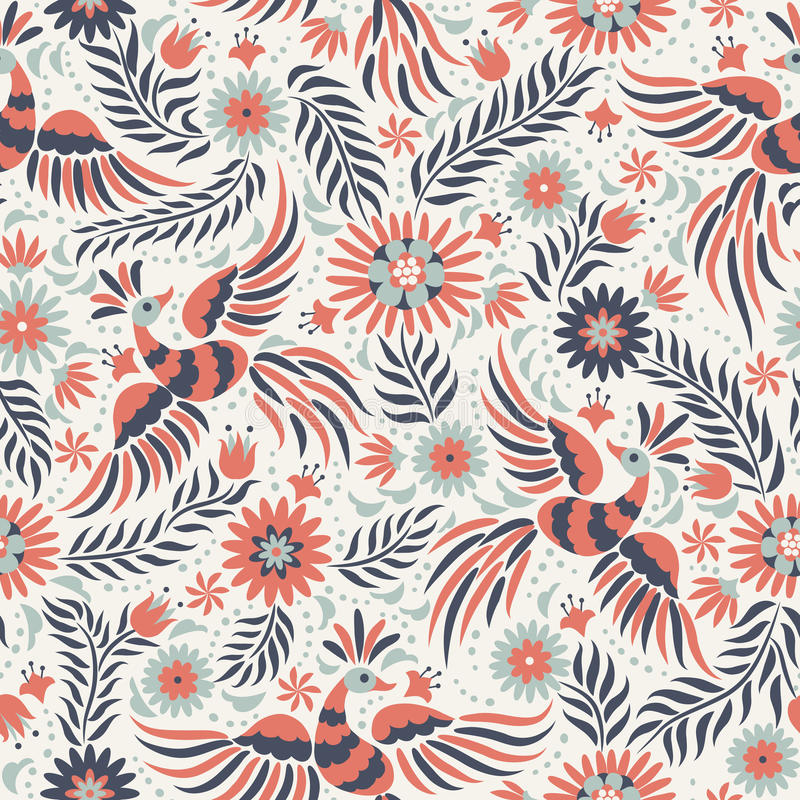 Free Vector Mexican Embroidery Seamless Pattern Royalty Free Stock Photos - 72552318