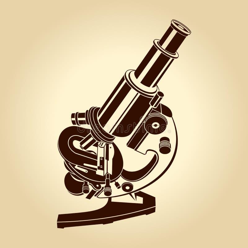Vector microscoopillustratie stock illustratie