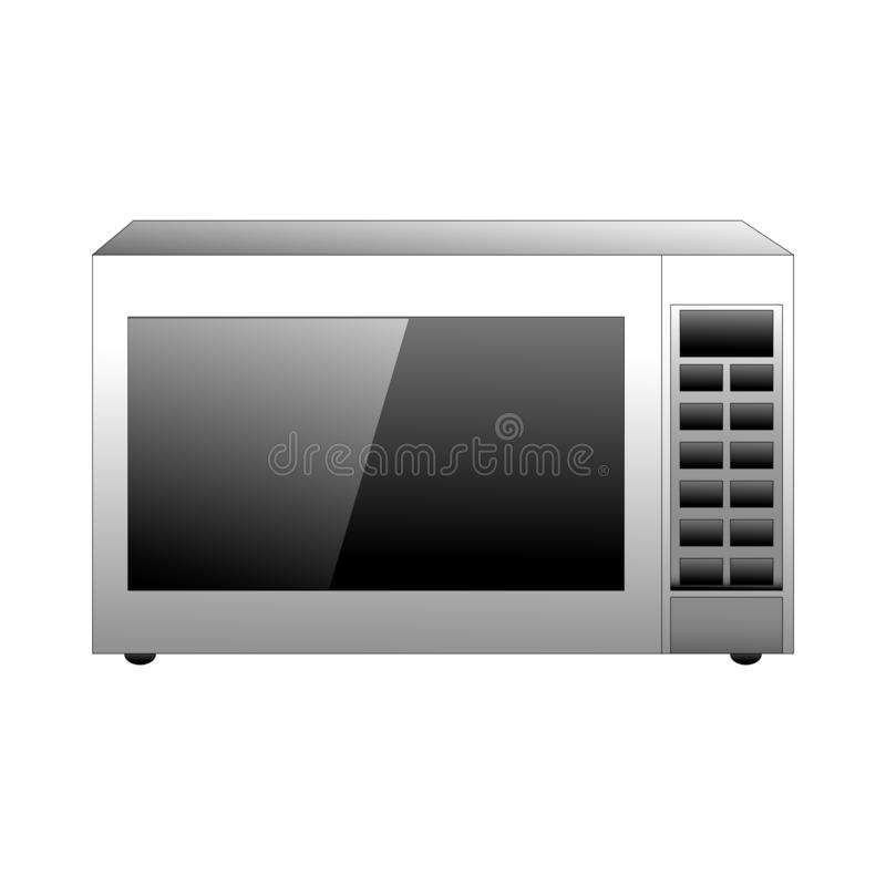 Vector microwave illustration on a white background vector illustration
