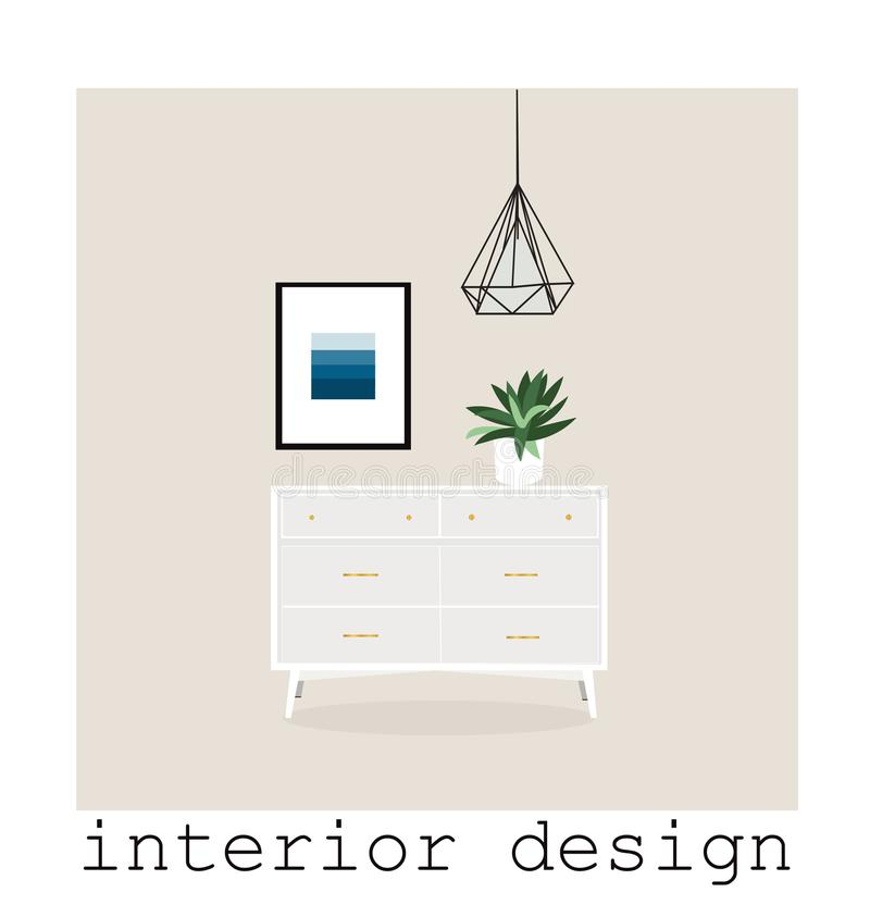 Design 1960 Mid Century Modern Furniture Vector Elements