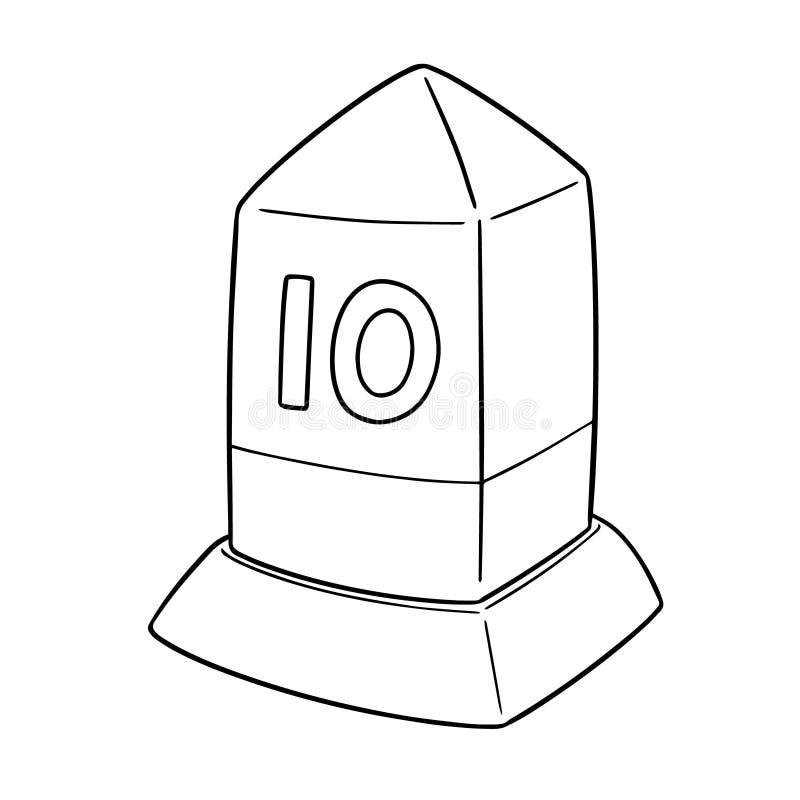 Vector of milestone royalty free illustration