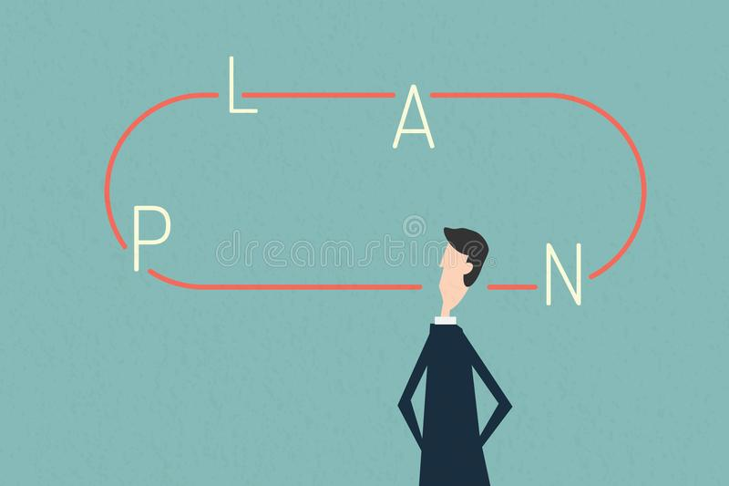 Mind map plan , business finance. Growth, economy, investment and technology,Leadership concept, Minimalist retro po. Vector mind map plan , business finance stock illustration