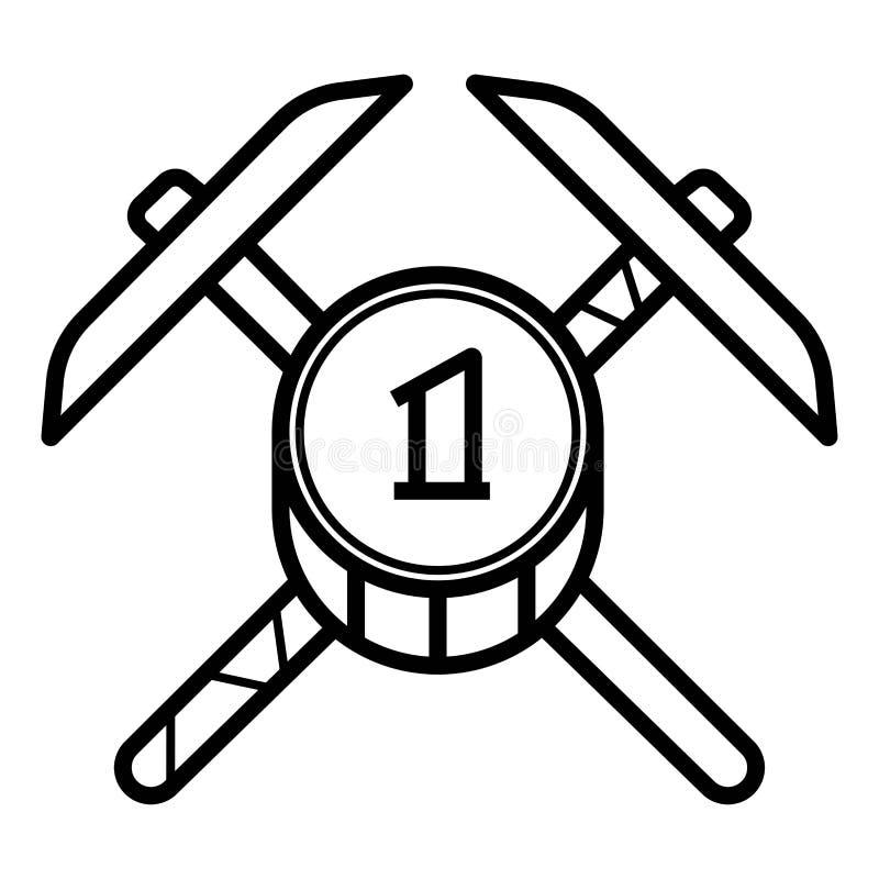 Vector minero del icono ilustración del vector