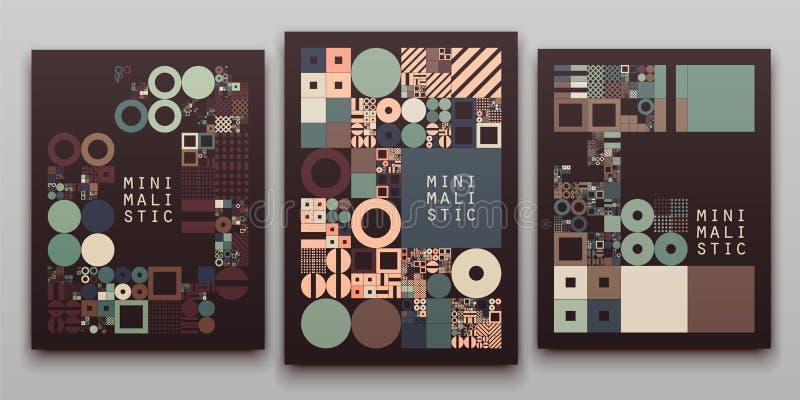 Vector minimaal dekkings procedureontwerp Futuristische minimalistic lay-out Conceptuele generatieve achtergrond Dagboek of vector illustratie