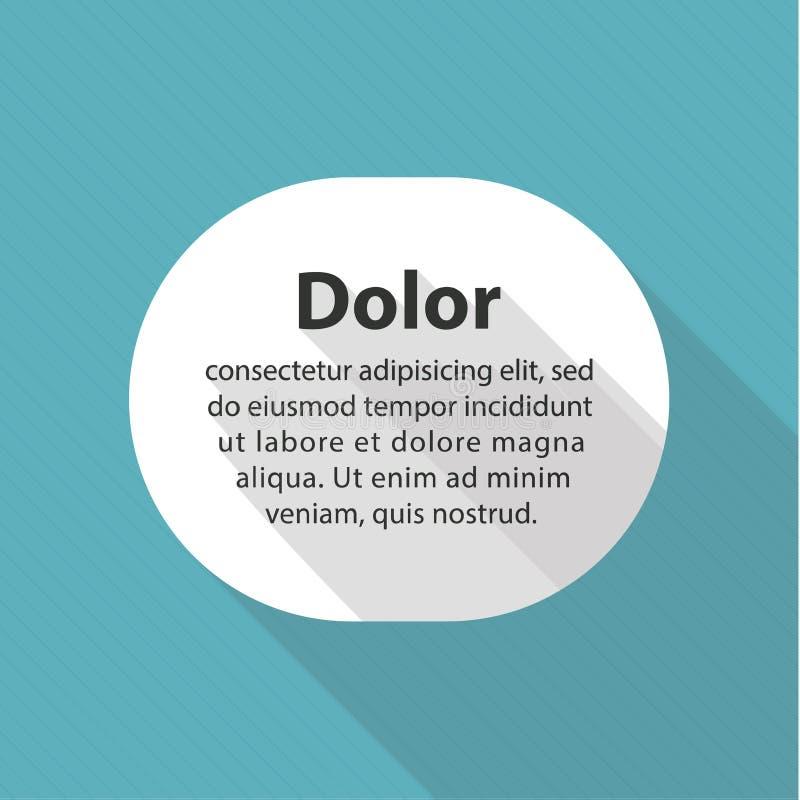 Vector minimalistic vlak malplaatje. Schone witte vormen met plaats vector illustratie