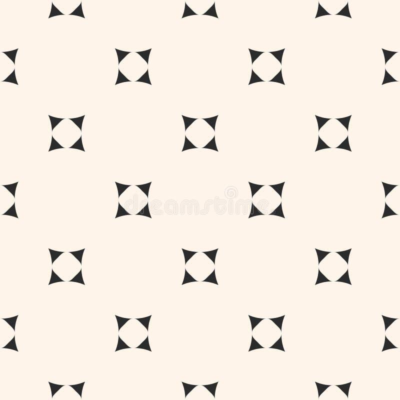 Vector minimalistisch naadloos patroon, uiterst kleine rond gemaakt geometrisch vector illustratie