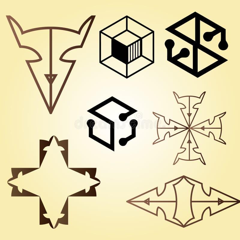 Vector minimalistische benadering uw embleemontwerp hier royalty-vrije illustratie
