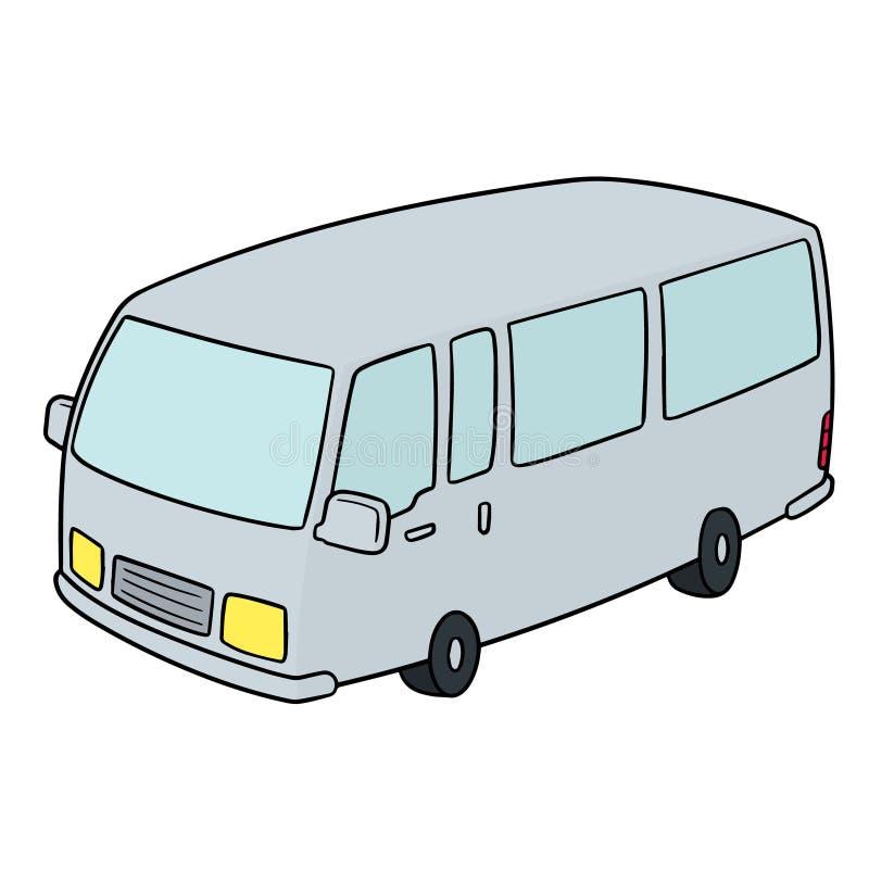 Vector of minivan. Hand drawn cartoon, doodle illustration royalty free illustration