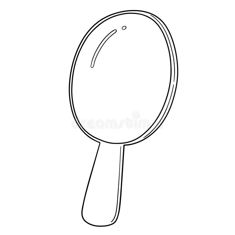 Vector of mirror. Hand drawn cartoon, doodle illustration royalty free illustration