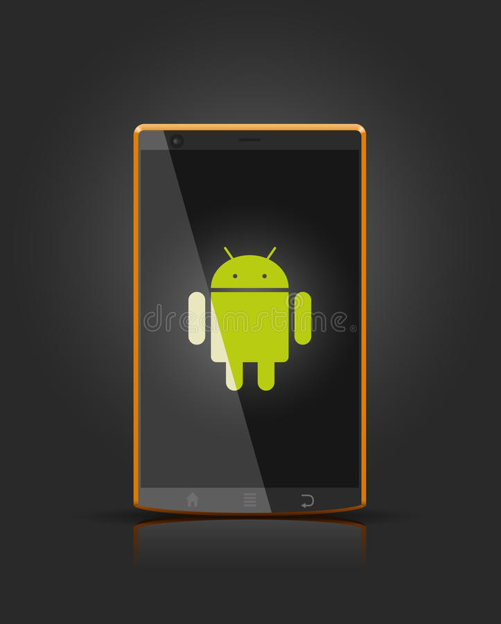 Vector mobiel androïde apparaat stock illustratie